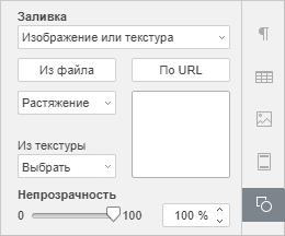 Заливка с помощью изображения или текстуры