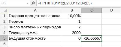 Функция ПРПЛТ