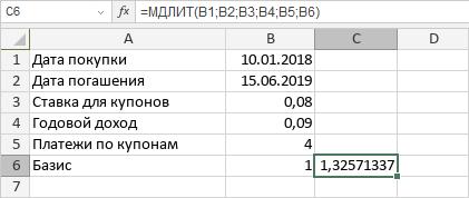 Функция МДЛИТ