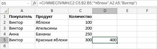 Функция СУММЕСЛИМН