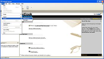 Как добавить пользователей, используя контактные данные из адресной книги почтового клиента? Шаг 1