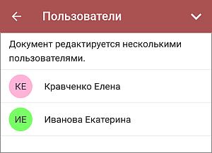 Панель Пользователи